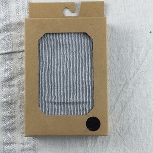 Urban Outfitters Silver Ribbed Textured Tights NWT